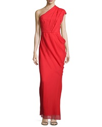 Camilla And Marc One Shoulder Pleated Gown