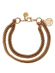 Givenchy Double Chain Choker Gold