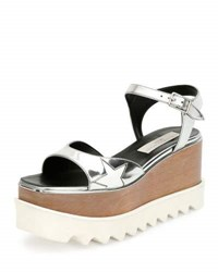 Stella Mccartney Star Wooden Platform Sandal Indium White Indium White
