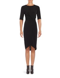 Ivanka Trump Three Quarter Sleeve Knit Sheath Dress Black