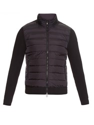 Moncler Quilted And Wool Blend Cardigan
