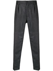 Haikure High Waisted Tailored Trousers Grey