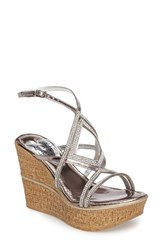 Love And Liberty Women's Selina Crystal Embellished Platform Wedge