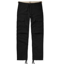 Carhartt Wip Aviation Slim Fit Cotton Ripstop Cargo Trousers Black
