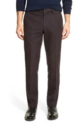 Bonobos Foundation Navy And Red Checkered Trim Fit Trouser 30 34 Inseam Multi