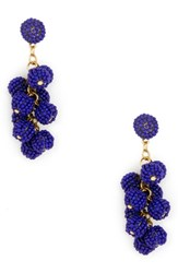 Sole Society Beaded Cluster Earrings Blue