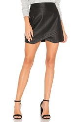 Bb Dakota Jack By Angeline Faux Leather Skirt Black