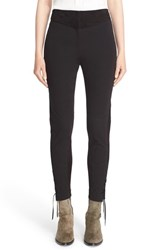 Belstaff Women's 'Booth' Stretch Cotton Skinny Pants Black