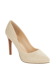 Charles By Charles David Plateau Stacked Stiletto Platform Pumps Tan