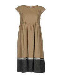 Caliban Knee Length Dresses Camel