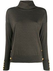 Snobby Sheep Button Embellished Jumper Green