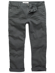 Fat Face Dye Twill Cropped Jeans Charcoal