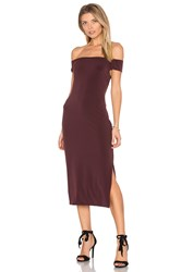 Velvet By Graham And Spencer Francella Off Shoulder Midi Dress Wine