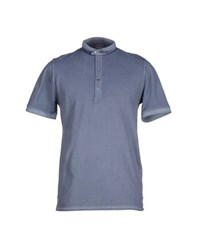Alpha Studio Topwear Polo Shirts Men Slate Blue
