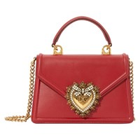 Dolce And Gabbana Small Devotion Shoulder Bag Rosso Papavero
