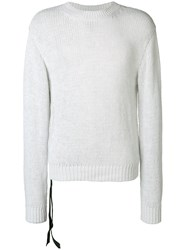 Unravel Project Longsleeved Loose Fitted Sweatshirt Grey