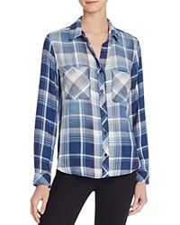 Bella Dahl Plaid Button Down Shirt Bastille Wash