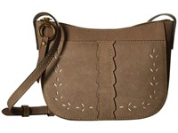 Frye Ilana Perf Zip Crossbody Cement Oiled Veg Cross Body Handbags Tan