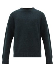 Acne Studios Kael Crew Neck Wool Blend Sweater Green