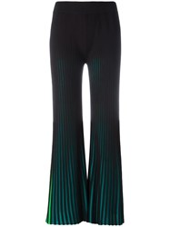 Kenzo Ribbed Flared Trousers Black