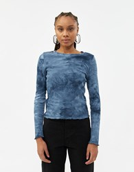 Which We Want Jessica Tie Dye Top In Blue