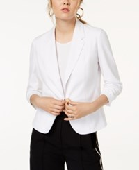 Xoxo Juniors' Ruched Sleeve Blazer Cloud Dancer
