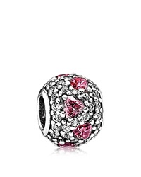 Pandora Design Pandora Charm Sterling Silver And Cubic Zirconia Shimmering Heart Moments Collection Silver Pink