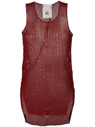 Lost And Found Rooms Sheer Tank Top Red