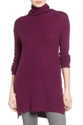 Halogen Funnel Neck Tunic Purple