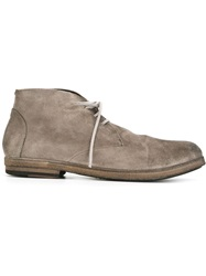 Marsell Marsell Distressed Lace Up Boots Grey
