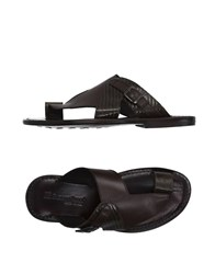 Fabiano Ricci Footwear Thong Sandals Men Dark Brown