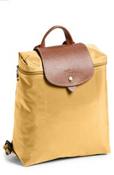 Longchamp 'Le Pliage' Backpack Yellow Curry