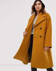 Y.A.S Oversized Boucle Coat Brown