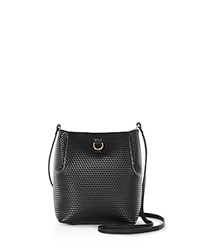 Karen Millen Small Embossed Duffel Shoulder Bag Black