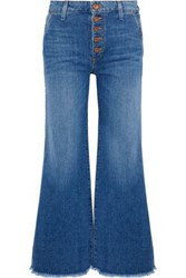 Alice Olivia Cropped High Rise Wide Leg Jeans Light Denim