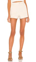 Amuse Society Joey Woven Short In Ivory. Off White