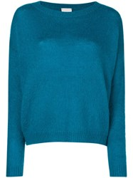 Alysi Long Sleeve Fitted Sweater Blue