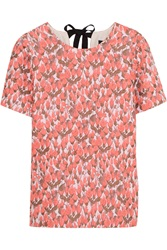 J.Crew Collection Floral Jacquard Top Pink