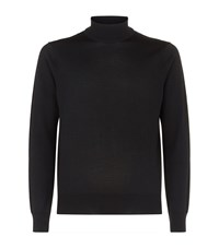 Sandro Wool Turtleneck Sweater Black