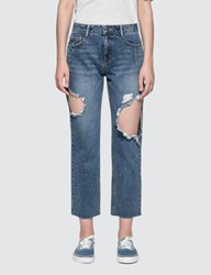 Sjyp Side Cut Off Jeans
