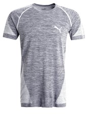 Puma Sports Shirt Quiet Shade White Grey