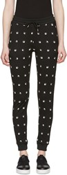 Mcq By Alexander Mcqueen Black Swallows Lounge Pants