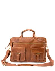 Rawlings Sports Accessories Rugged Leather Briefcase0235 V609202 Cognac
