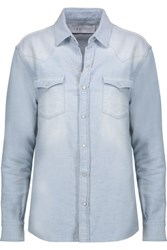 Iro Batna Cotton Chambray Shirt Light Denim
