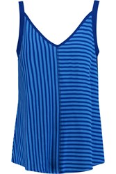Sandro Time Striped Stretch Knit Top Blue