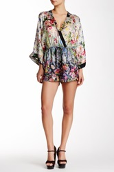 Single Dress Rochelle Silk Romper Multi