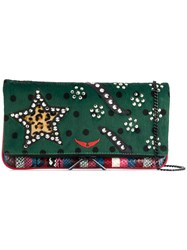 Zadig And Voltaire Rock Safari Clutch Green