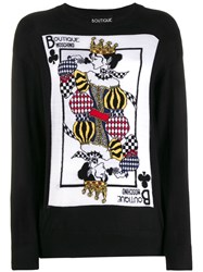 Boutique Moschino Fantasy Knit Top Black
