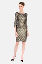 Kay Unger Women's Metallic Lace Sheath Dress