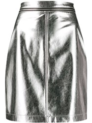 Philosophy Di Lorenzo Serafini Fitted Mini Skirt Silver